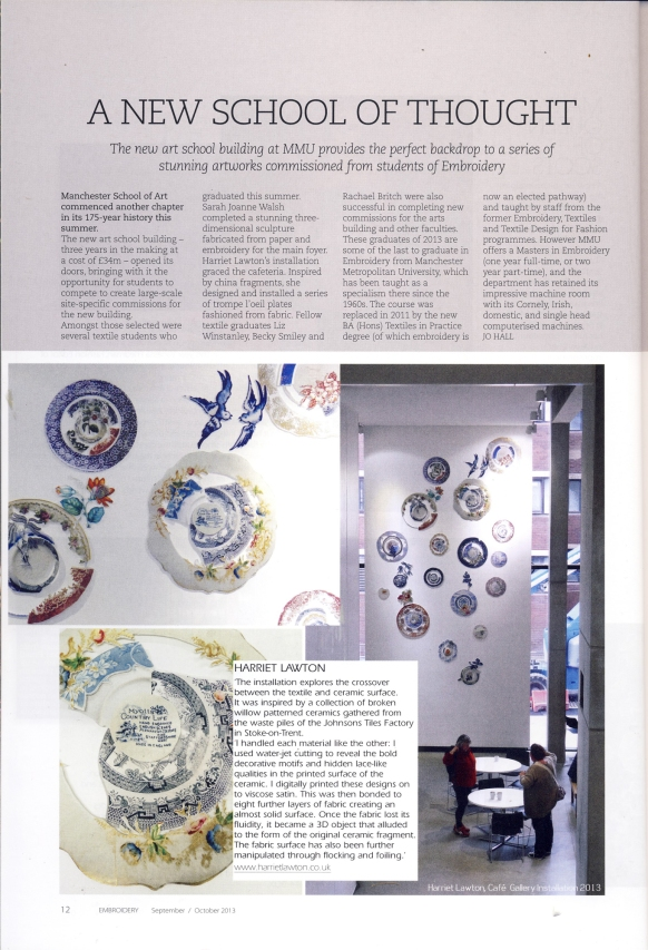 Embroidery Magazine Sept/Oct 2013