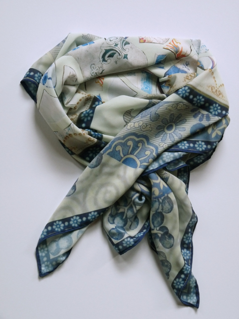 Digitally Printed Silk Scarf